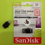Sandisk Flashdisk 16 gb Dua fungsi