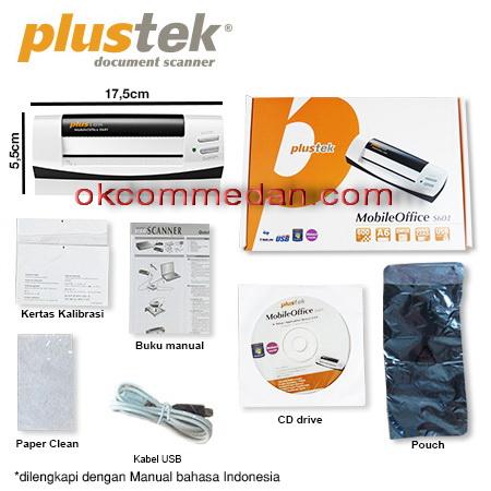 Scanner kartu nama plustek S601