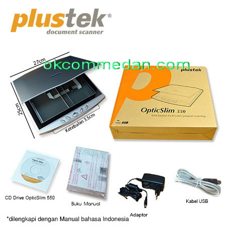 Jual Plustek Scanner  Optic Slim 550