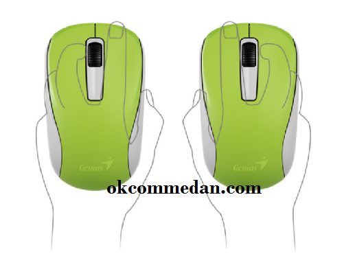Genius NX 7005 dapat dipakai untuk tangan kiri dan kanan