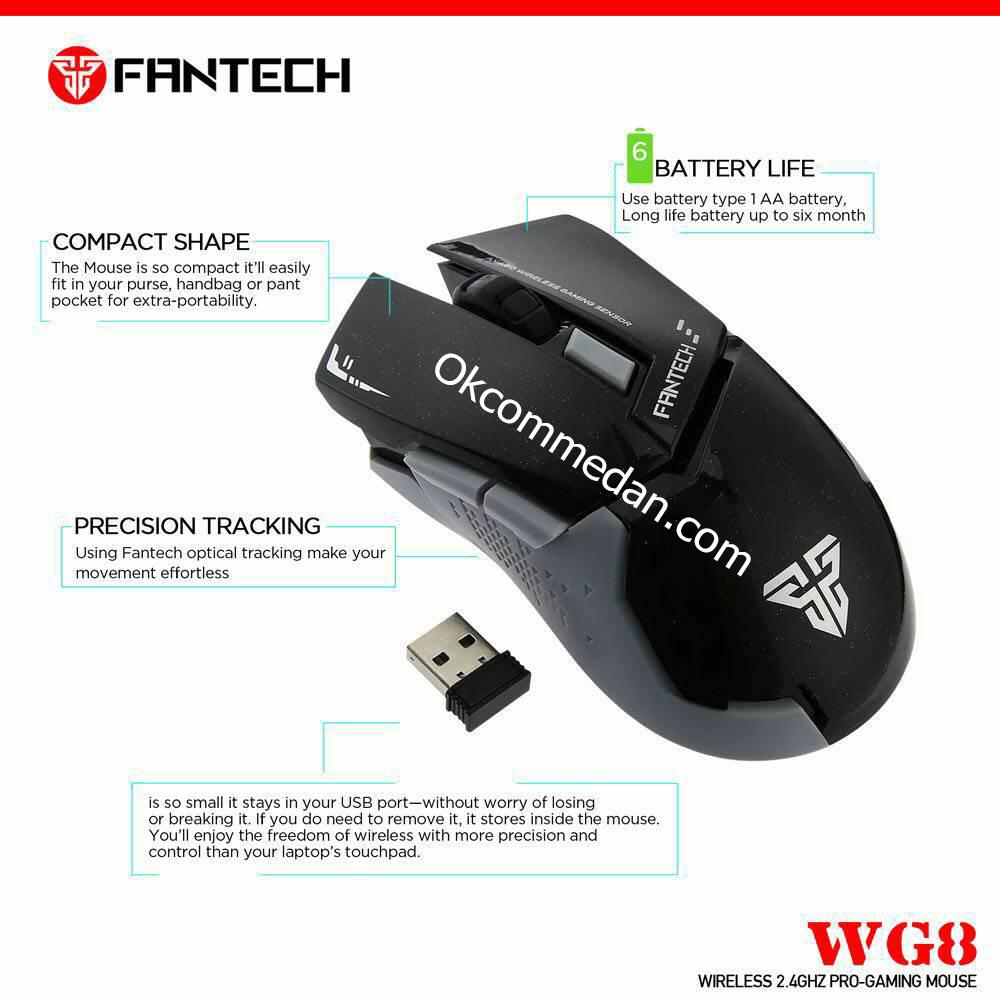 Mouse Wireless Fantech WG8