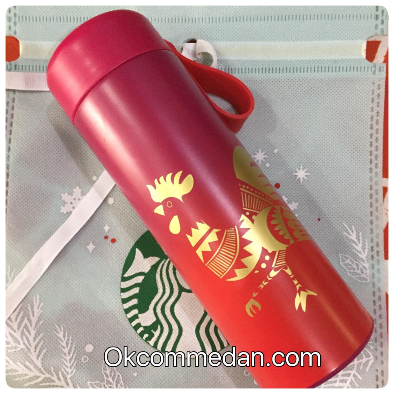 Starbucks tumbler strap rooster