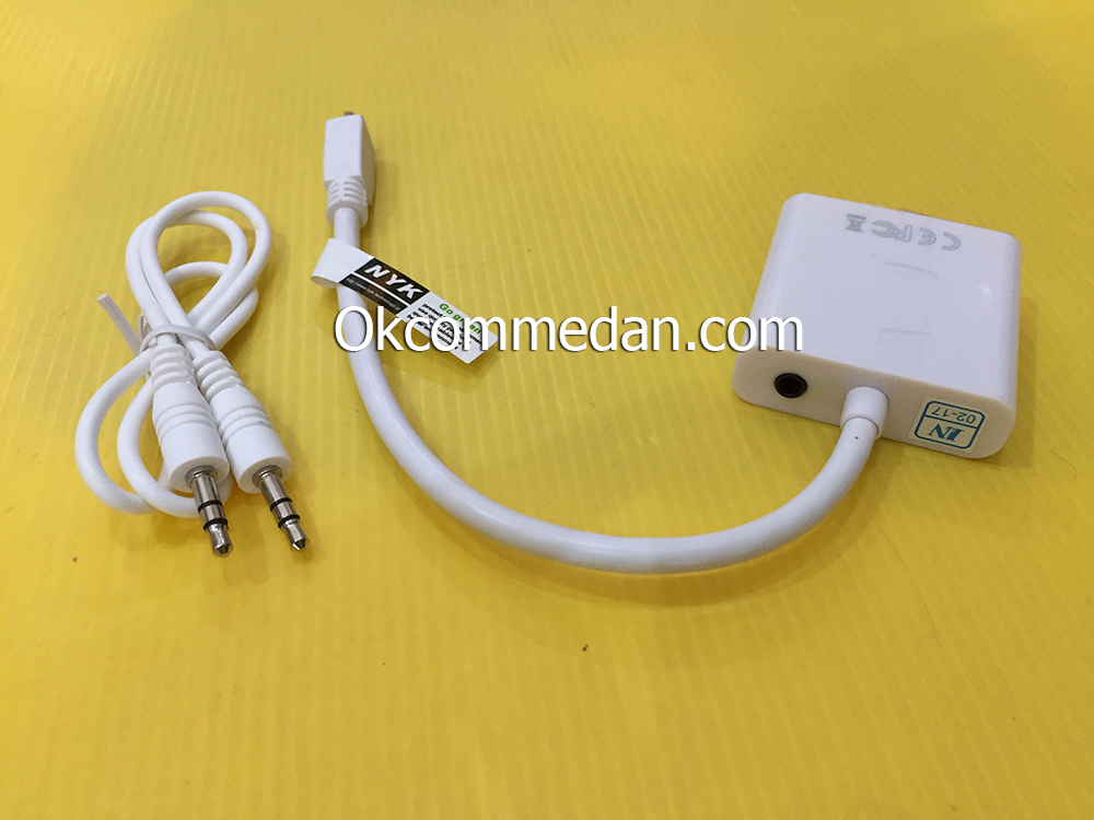 Kabel Konverter Micro HDMI jantan ke VGA betina