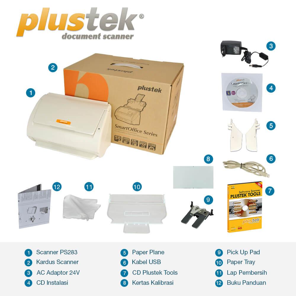 Perlengkapan Scanner Plustek PS283