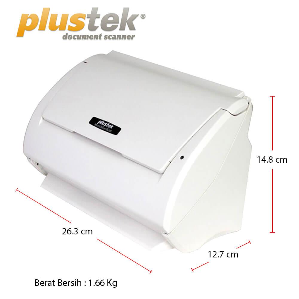 Dimensi Scanner Plustek PS283