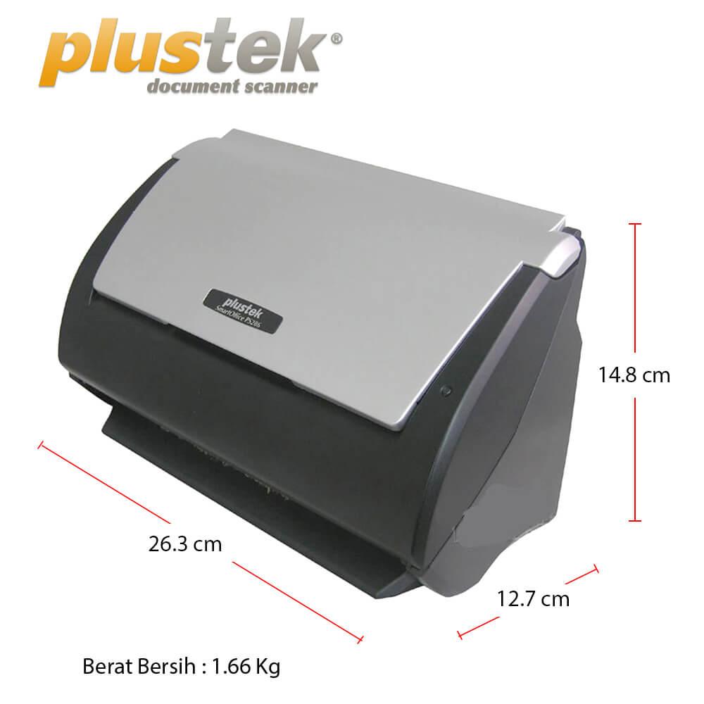 Dimensi Plustek PS286 plus
