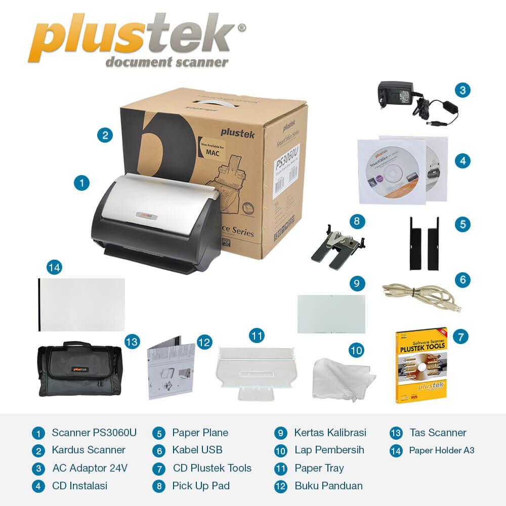 Perlengkapan Scanner Plustek PS3060u