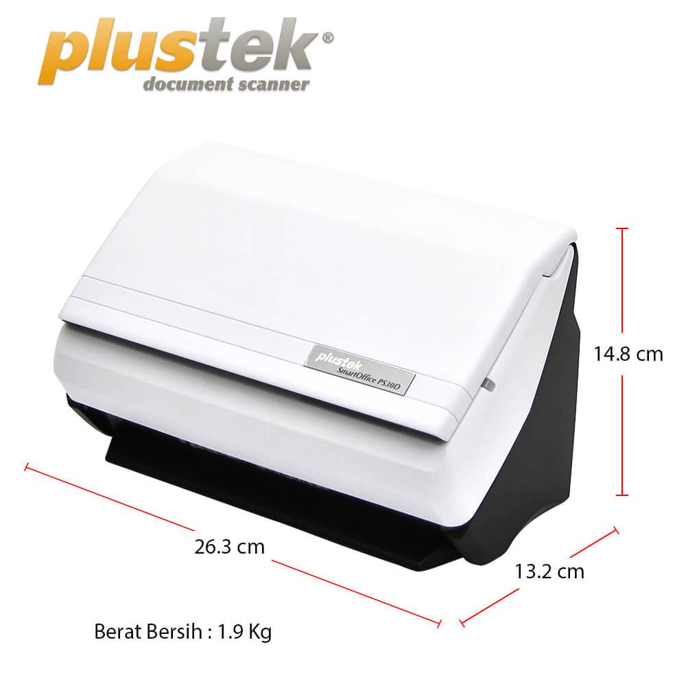 Dimensi Scanner Plustek PS30d