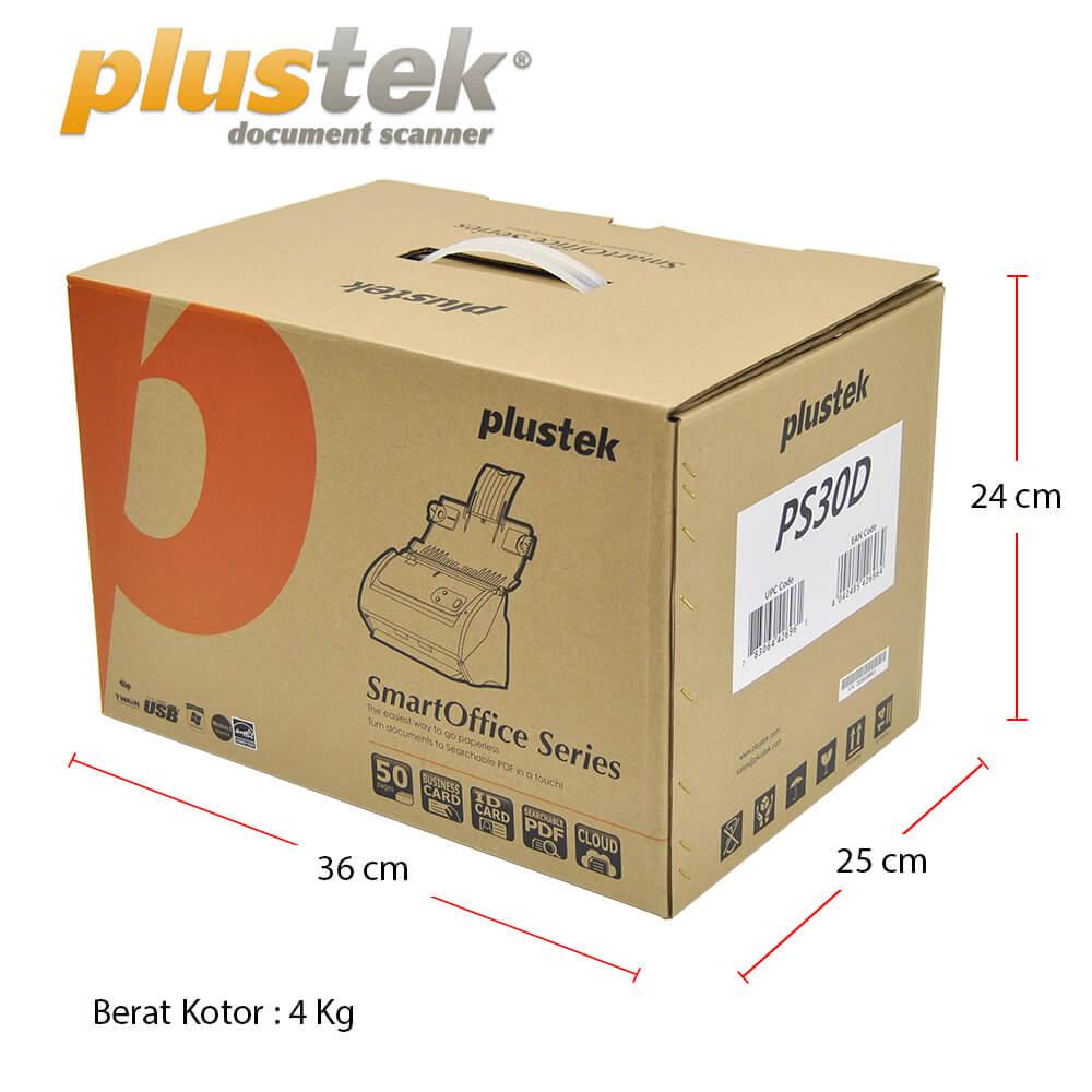 Dimensi Kotak Scanner Plustek PS30d