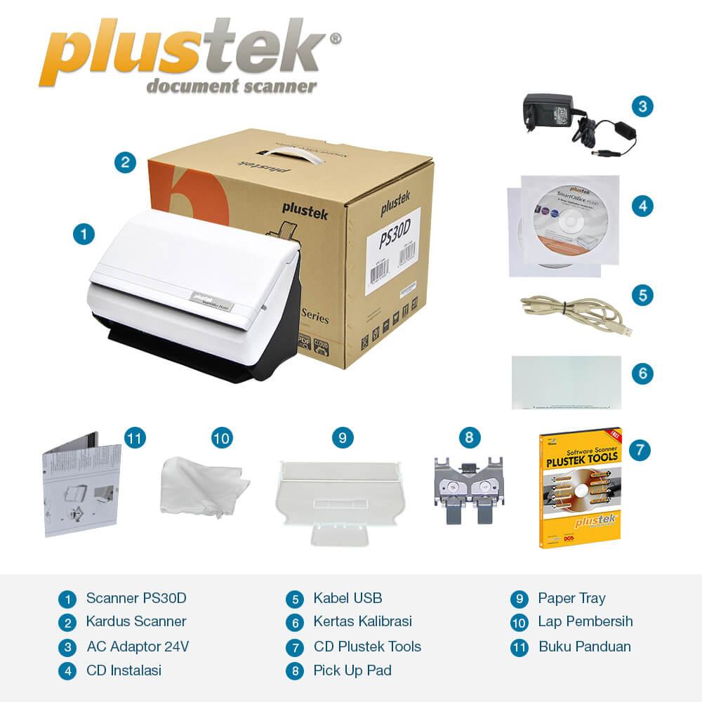 Perlengkapan Scanner Plustek PS30d