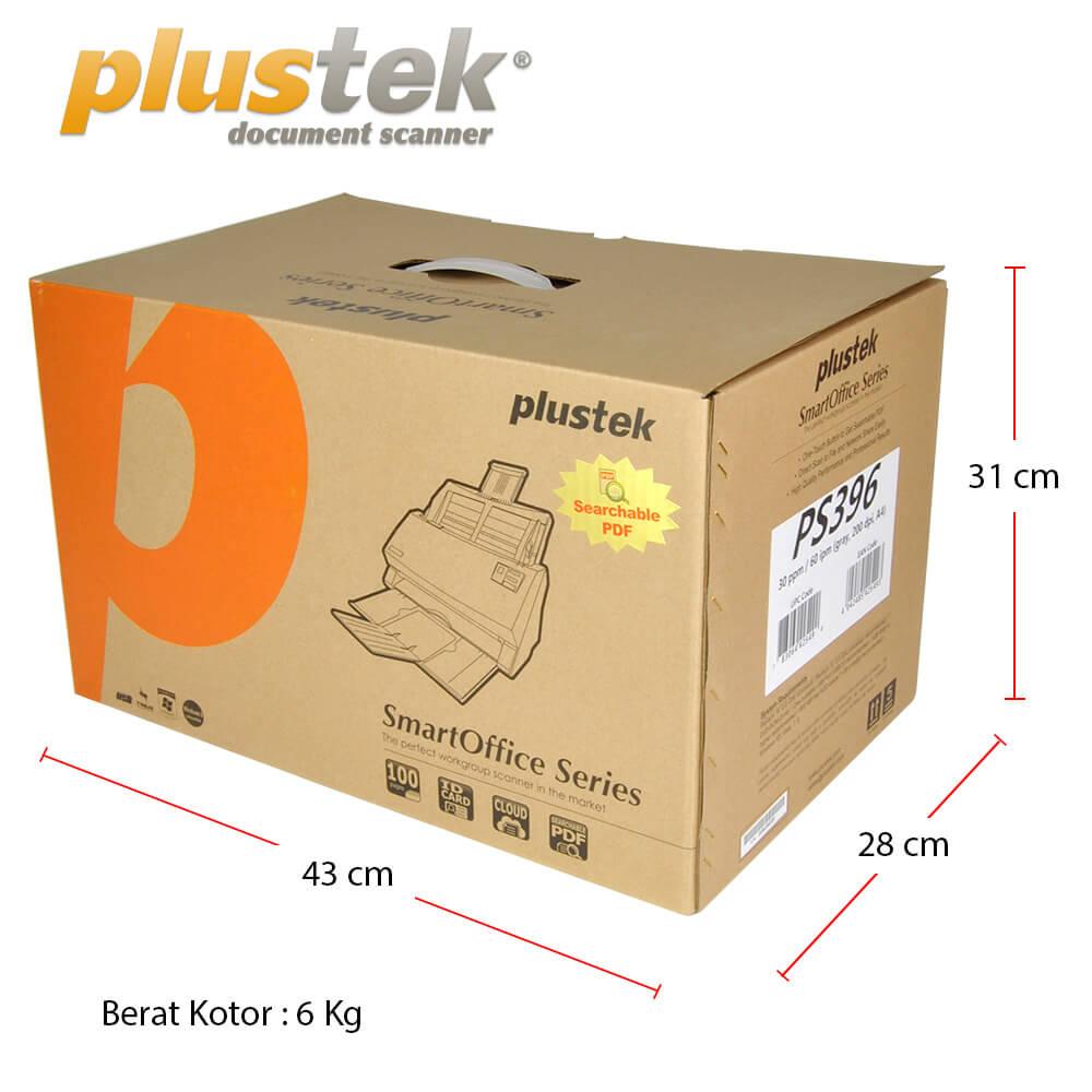 Dimensi Kotak Scanner Plustek PS396