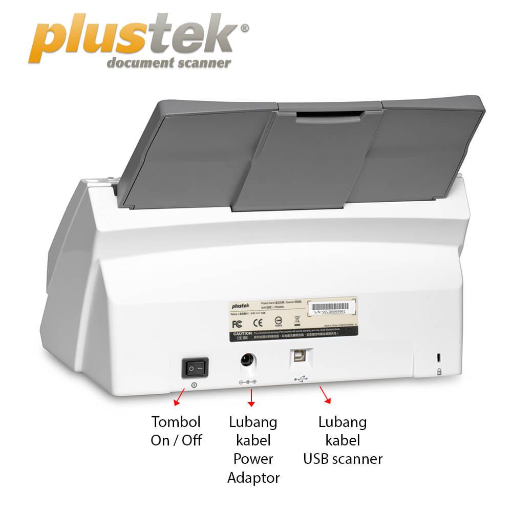 Interface Scanner Plustek PS406