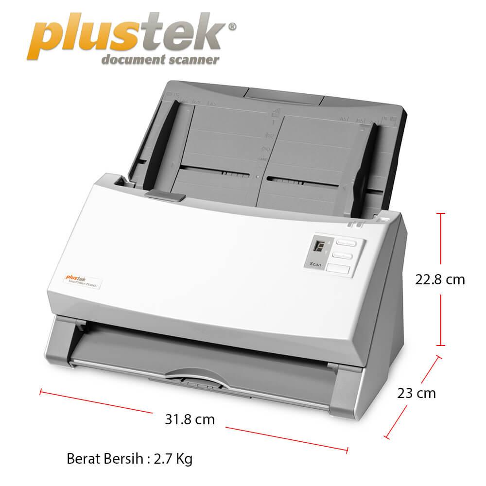 Dimensi Scanner Plustek PS406