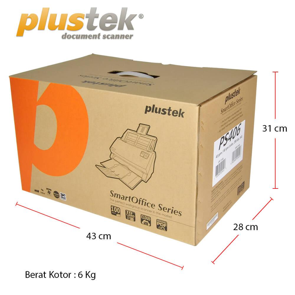 Dimensi Kotak Plustek PS406