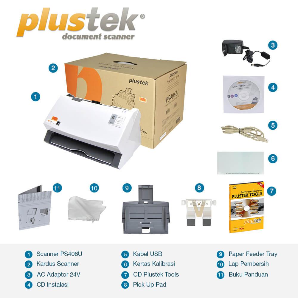 Perlengkapan Scanner Plustek PS406u