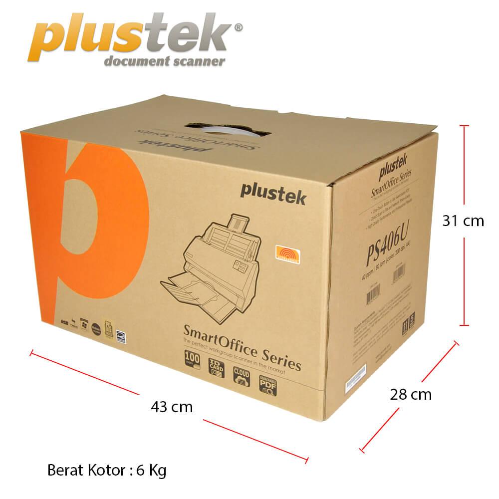 Dimensi Kotak Scanner Plustek PS406u