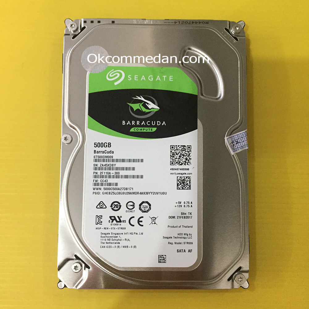 Harddisk PC Seagate Barracuda 500 Gb sata bergaransi
