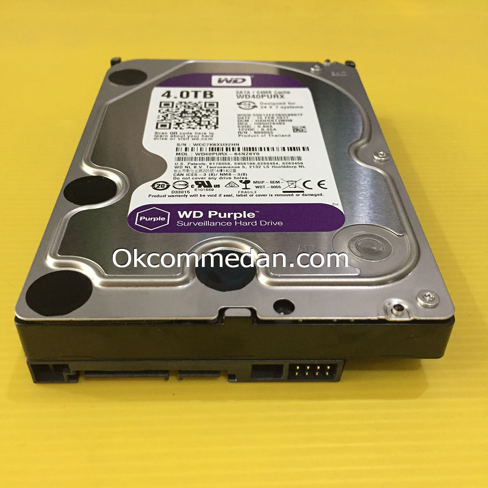 Jual WD Purple 4 tera Harddisk PC Sata bergaransi