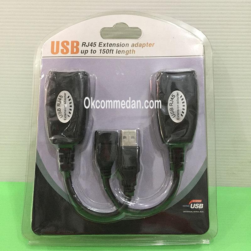 Extender USB  45 mtr memakai kabel Lan berkualitas