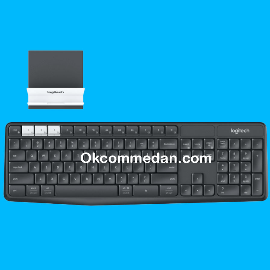 Keyboard Logitech K375s Wireless dengan stand