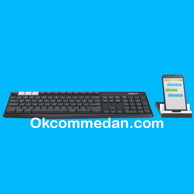 Logitech Keyboard Wireless K375s dengan stand