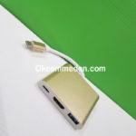 Kabel Konverter USB-C ke HDMI USB 3.0 dan USB-C