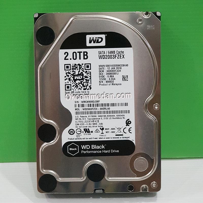 WD Black WD2003FZEX Harddisk kapasitas 2 tera