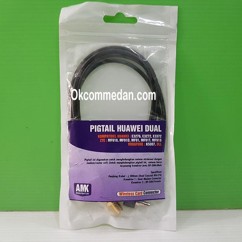 Pigtail Huawei Dual untuk Huawei E3372