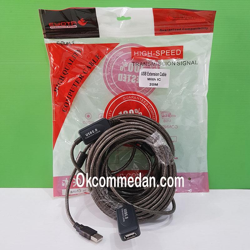 Kabel Perpanjangan USB 2.0 dengan IC 20 meter