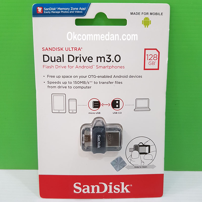 Sandisk Flash drive OTG Ultra Dual Drive 128 Gb