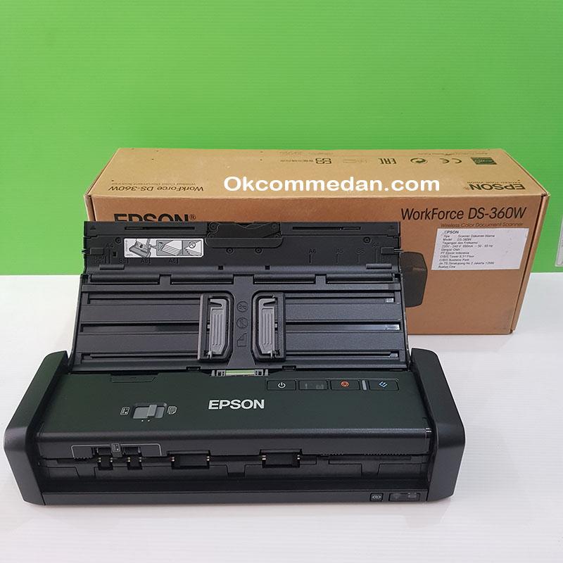 Scanner Epson Workforce DS-360w Wifi dan baterai