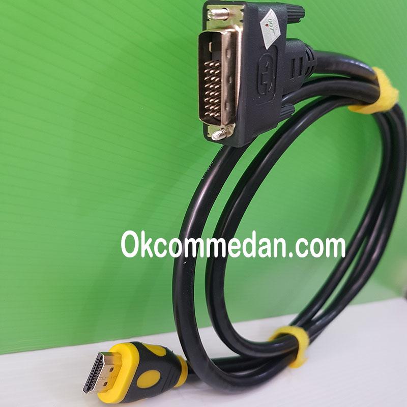 Jual Kabel DVI 24+1 ke HDMi 1,5 meter