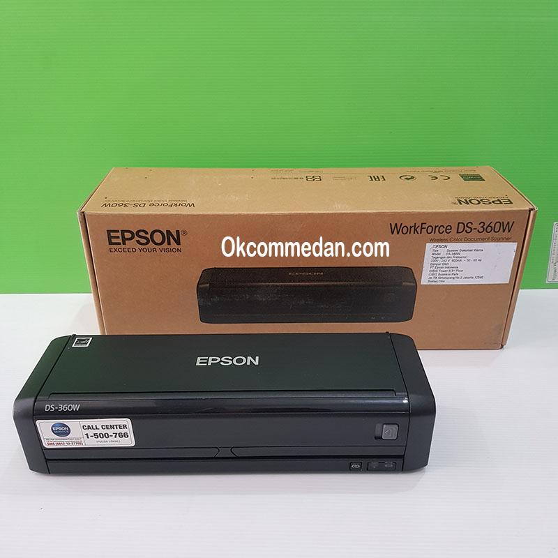 Harga Scanner Epson Workforce DS-360w Wifi dan baterai