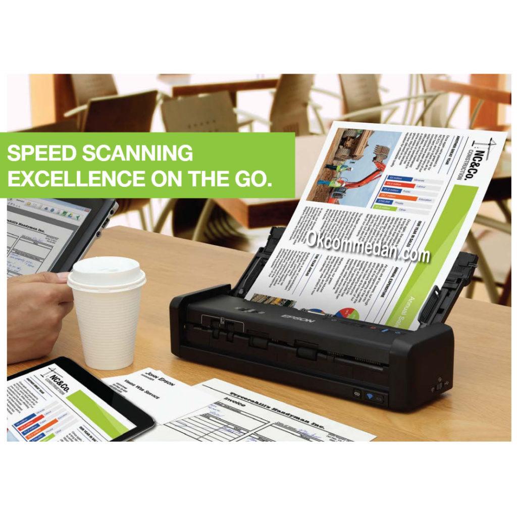 Jual Scanner Epson Workforce DS-360w Wifi dan baterai