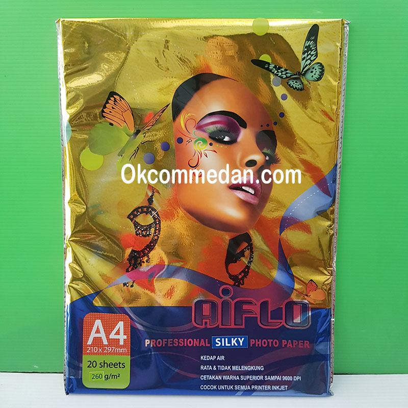 Jual Aiflo Silky Photo paper A4 260 gram