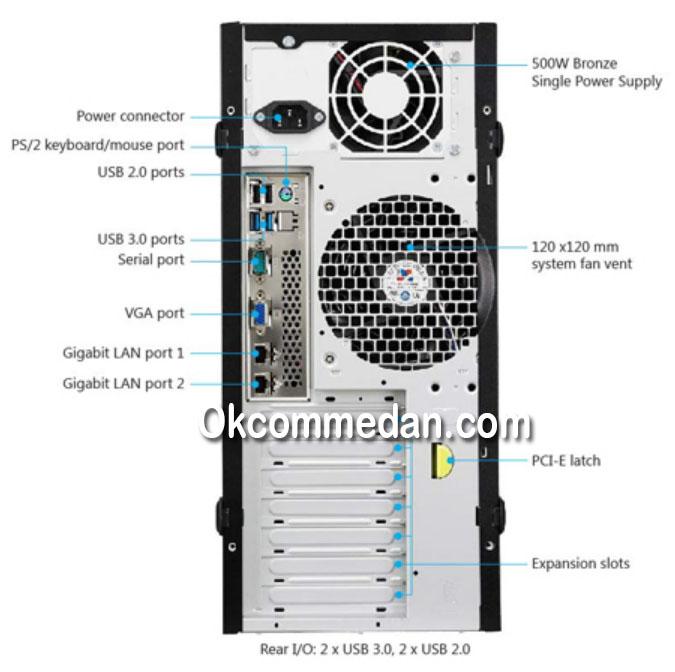 Jual Asus TS100 Server Intel Xeon E3 1220v6