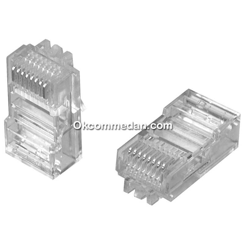 Konektor Rj45 Cat5 merek Commscope Asli