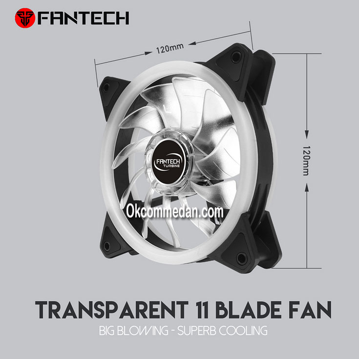 Jual Fantech Fc124 Turbine Kipas Casing 12 cm