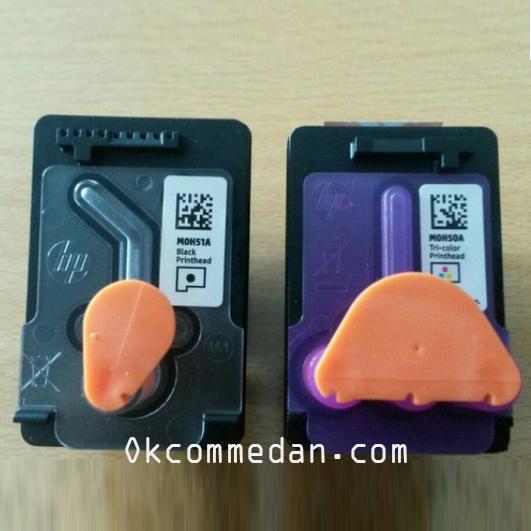 Contoh Head Hitam dan warna HP Inktank 115