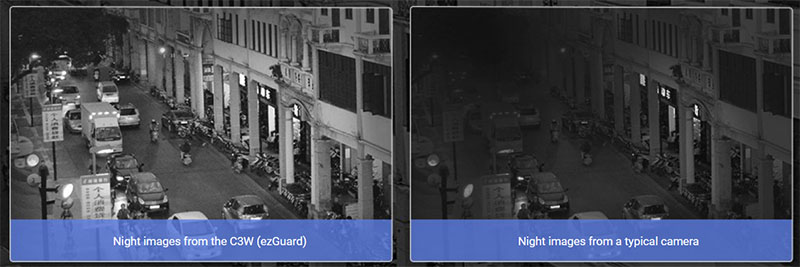 Contoh night vision dari EZviz C3W