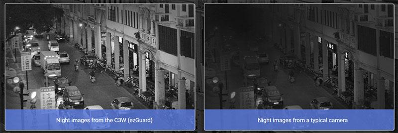 Contoh night vision dari EZviz husky air
