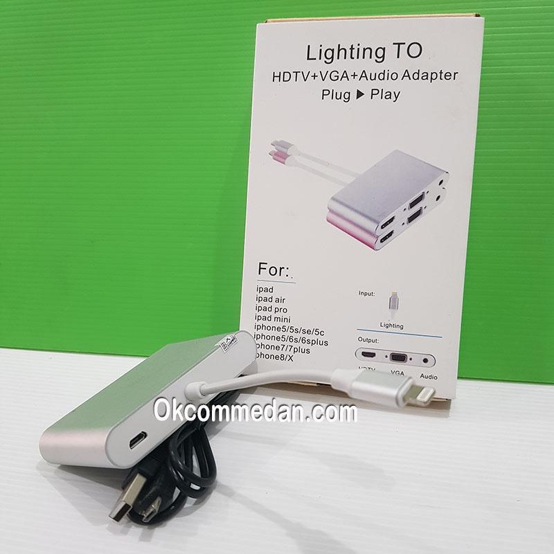 Harga Kabel Konverter Lightning ke HDMI VGA dan Audio