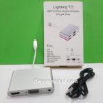Jual Kabel Konverter Lightning ke HDMI VGA dan Audio