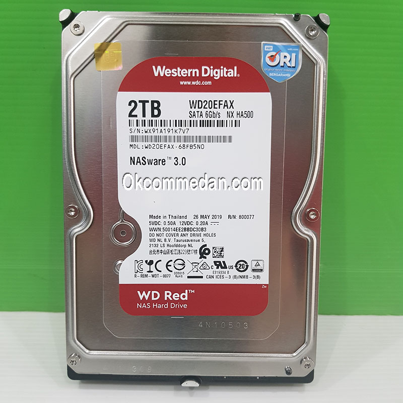 WD Red 2 TB Harddisk ( WD20EFAX )