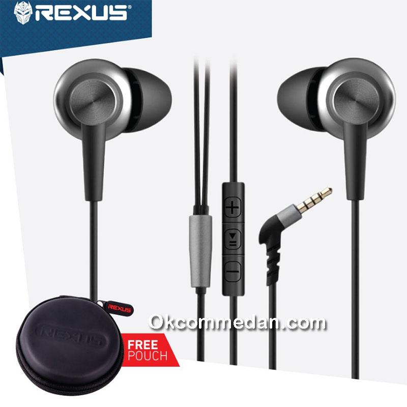 Earphone Rexus EP2 dengan remote dan mic