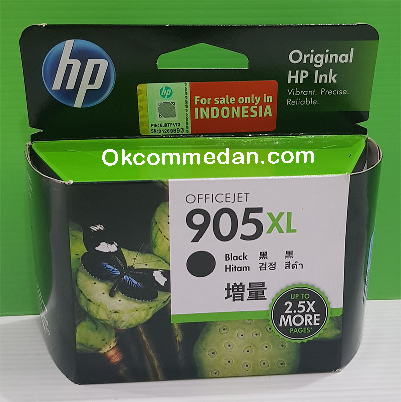 Jual HP 905XL Black Ink Catridge Warna hitam