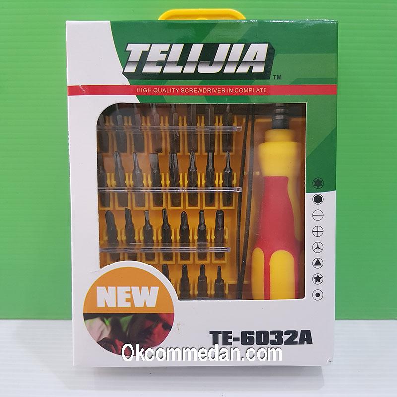 Obeng Set 32 in 1 Telijia Te-6032a dengan pinset