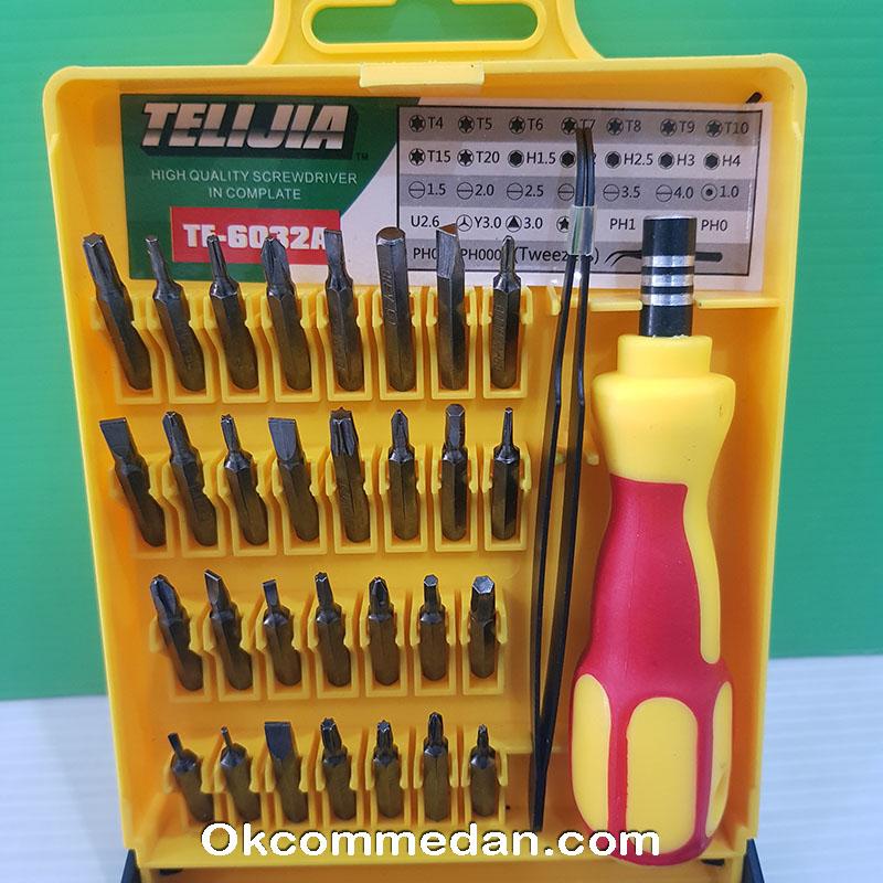 Obeng Set 32 in 1 Telijia Te-6032a