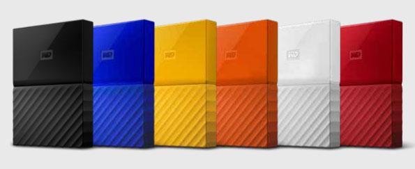 Warna WD My Passport 1 TB harddisk eksternal