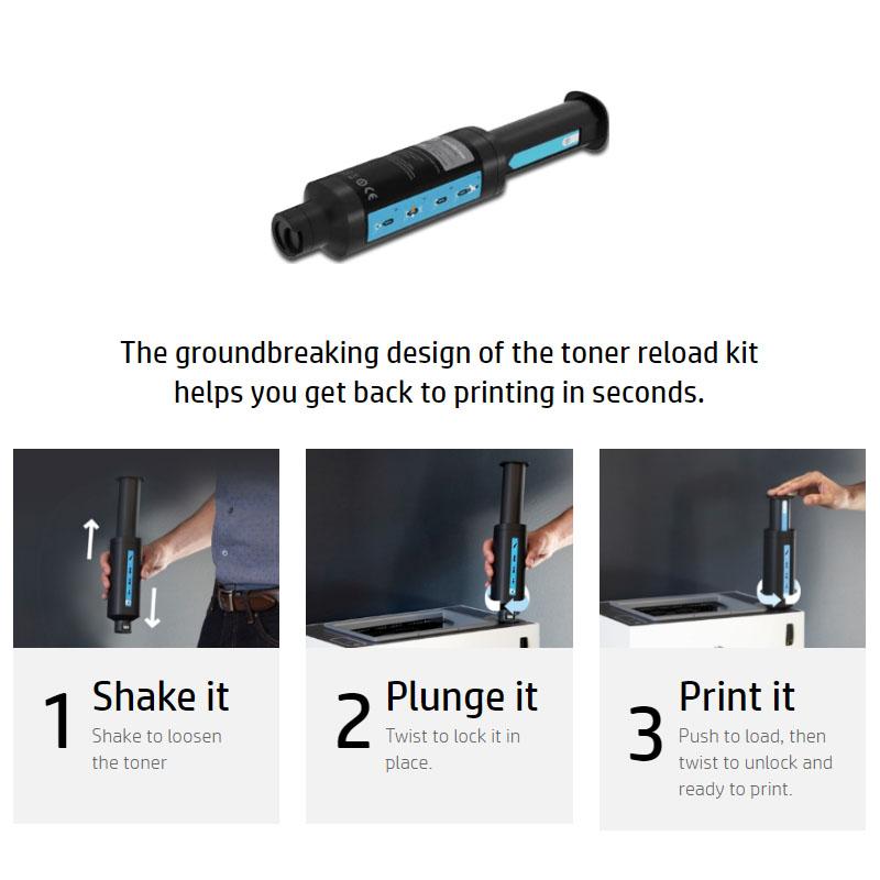 Cara Reload toner HP Neverstop Laser 1000a